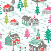 Dashwood Studio Christmas Dreams - 4056 - Village Scene - CHDR 1108 - Cotton Fabric